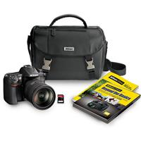 Nikon D7000 DSLR Camera Kit with 18 200mm DX VR Lens Nikon Leather Bag Nikon School Fast Fun and amp Easy DVD Nikon Guide to SLR Photography 16GB SD Card