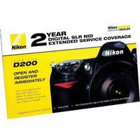 Nikon 2 Year Extended Service Coverage Agreement for the Nikon D200 Digital SLR Camera. image