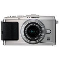Olympus E-P3 Pen Digital Camera, Silver, with M. Zuiko 14-42mm II R f/3.5-5.6 Silver Lens