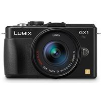 "Panasonic Lumix DMC-GX1 16MP Camera Body with 14-42mm Zoom Lens, 17.3 x 13mm Image Sensor, 3.0"" Touch Enabled LCD, Black"