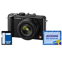 Panasonic Lumix DMC-LX7 10.1 Megapixels Digital Camera with 3.8x24mm Wide-Angle Leica Optical Zoom Lens, Black - Bundle - with Adorama $50.00 Gift Certificate and Panasonic Class 4 16GB SDHC Memory Card