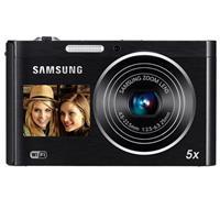 "Samsung DV300F SMART 16MP DualView Digital Camera, 1/2.3"" CCD Sensor, 25-125mm Wide-Angle Lens, 5x Optical Zoom, 3"" TFT LCD Display, WiFi, Black"