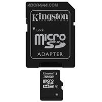 Kingston Technology 32GB microSDHC (Class 4) High Capacity micro Secure Digital Card with Standard SD Adapter