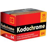 Kodak Kodachrome KR 64 Color Slide Film ISO 64, 35mm Size, 36 Exposure, Transparency, USA - Sharp, Long-Lasting Colors image