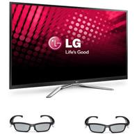 LG 60PM9700 60 inch 1080p 600Hz 3D Plasma HDTV with Smart TV + (2) Two LG AG-S350 PDP SG 3D Glasses