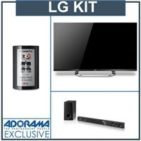 LG 47LM7600 47 inch 1080p 240Hz 3D Cinema LED LCD HDTV + LG NB3520A Sound Bar Audio System + (12) Twelve LG Cinema 3D Glasses, Family Pack