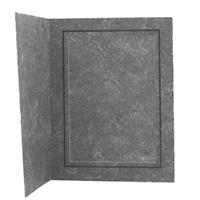"Adorama Picture Folder / Frame, Black Marble with inner Gold Border for 8"" x 10"" Photo image"