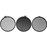 "GS5-1/2 5"" Round Honeycomb Grid Set for 5"" Reflectors, Set of Three Grids, 15 deg., 30 deg Product image - 623"