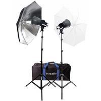 Continuous Output 1000 Watt Photo Flood Light Kit, with 2 SXT3200 Heads (2x500w), with Lamps, Stands Product image - 306