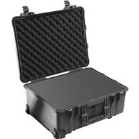 1560 Watertight Hard Case with Cubed Foam Interior & Wheels - Black Product image - 442