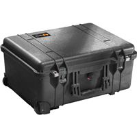 1560 Watertight Hard Case without Foam Insert, with Wheels - Charcoal Black Product image - 555