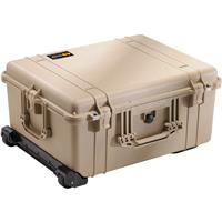 1610 Watertight Hard Case with Cubed Foam & Wheels - Desert Tan Product image - 355