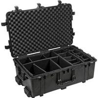 1650 Watertight Hard Case with Dividers & Wheels - Black Product image - 189