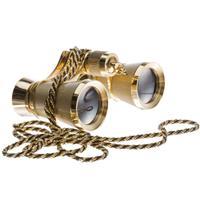 Adorama 3 x 25 Focusing Opera Glass Binocular, Titanium Gold image