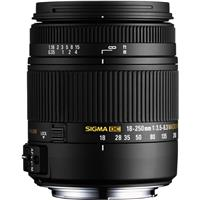 Sigma 18-250mm f/3.5-6.3 DC Macro OS (Optical Stabilizer) HSM Zoom Lens for Nikon Digital SLR Cameras - USA Warranty