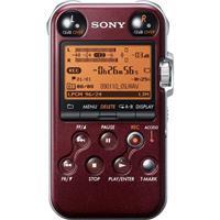 Sony PCM-M10/R Portable Linear PCM Recorder, 96 kHz/24-bit, 4GB Memory & USB High-Speed Port, Glossy Red