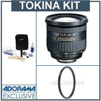 Tokina 16.5-135mm f/3.5-5.6 DX Zoom Lens Kit, for Nikon Digital SLR Cameras, with Tiffen 77mm UV Wide Angle Filter, Professional Lens Cleaning Kit