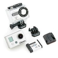 GoPro HD Hero Naked 170 Degree Wide Angle Lens Camera without Mounts, 5 Megapixel, 1920 x 1080p HD, 1.5in Status LCD, 1/2.5in HD CMOS Sensor