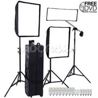 Westcott 3-Light Window Light Kit Plus with Two TD5 & One TD3 Units, Softboxes, Lightstands, Fluorescent Lamps & Travel Case