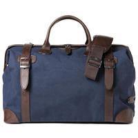 Barber Shop Quiff Traveler Doctor Camera Bag, Blue Canvas   Dark Brown  Leather 6def670718