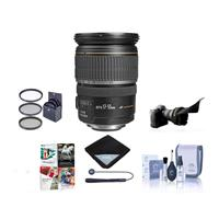 Canon EF-S 17-55mm f/2.8 IS USM Lens w/Free Accessory Bundle