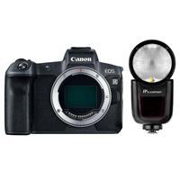Deals on Canon EOS R Mirrorless 30.3MP Camera w/Flashpoint Speedlight