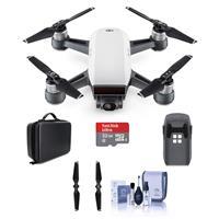 DJI Spark Mini Drone Alpine White W 32GB MicroSDHC Card Propellers