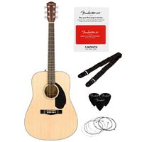 Deals on Fender CD-60S 6-String Acoustic Guitar Dreadnought Pack