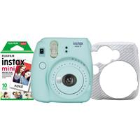 Deals on Fujifilm Instax Mini 9 Instant Film Camera Holiday Bundle, Ice Blue