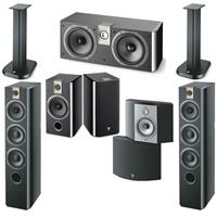 Deals on Focal Chorus Black Piano Lacquer, Major Speakers Bundle w/Stand