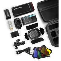 Deals on Flashpoint eVOLV 200 TTL Pocket Flash w/Barndoor Kit Bundle