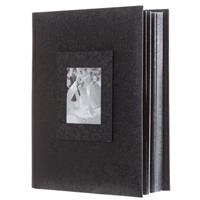 adorama proof album series holds 300 4x6 photos w4x6 window black wblack - 4x6 Photo Albums