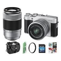 Fujifilm X-A5 24.2MP Camera Bundle w/15-45mm & 50-230mm Lens Deals