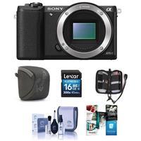 Deals on Sony Alpha a5100 Mirrorless Digital Camera Body Bundle