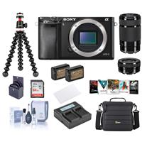 Deals on Sony Alpha a6000 Mirrorless Camera w/16-50mm & 55-210mm Lens