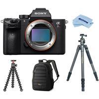Sony Alpha a7R III Mirrorless Digital Camera Body Only w/Tripod Bundle Deals