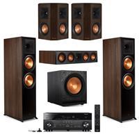 Deals on 2x Klipsch RP-8000F + RP-404C + RP-402S Pair + SPL-120 + Yamaha RX-A1080