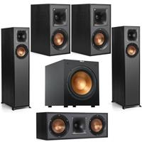 Deals on Klipsch 2x R-610F Floorstanding Speaker R-12SW Subwf, R-52C Center, 2x Bookshelf