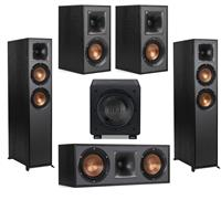 Deals on Klipsch 2 Pack R-625FA Dolby Atmos Floor Speaker w/2 R-41M + R-52C