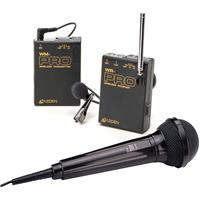 Azden WMS PRO Microphone VHF Wireless Lavalier and Handheld Microphone System WLT PRO WMT PRO and WR 241 - 20