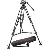 Manfrotto MVHA Pro Video Head B Aluminum Tripod Legs Maximum Height Supports lbs 185 - 98