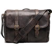 ONA The Brixton Camera and Laptop Messenger Bag Dark Truffle Leather 150 - 168