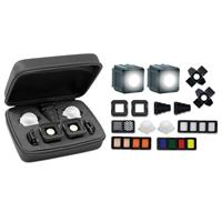 Video Lume Cube AIR Lighting Bundle Magnetic LED Light for Photo Waterproof On-Camera LED with DSLR Camera Mount and All Gels and Diffusers and Content Creation