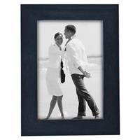 malden linear series wood photo frame 5x7in blue
