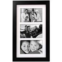 malden linear contemporary frame 3 photos 4x6 black
