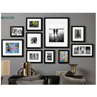 prinz gallery expressions wood frame 8x10 matted to 5x7 photograph black