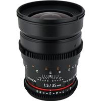 Rokinon 35mm T1.5 Cine Lens for Micro Four Thirds System
