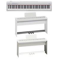 Roland Fp 30 88 Keys Supernatural Digital Piano White W Custom Stand Pedal Unit Fp 30 Whc