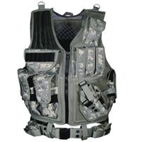 NcSTAR VISM 45 Degree Tactical MOLLE Panel with 4 PALS Straps Army Digital