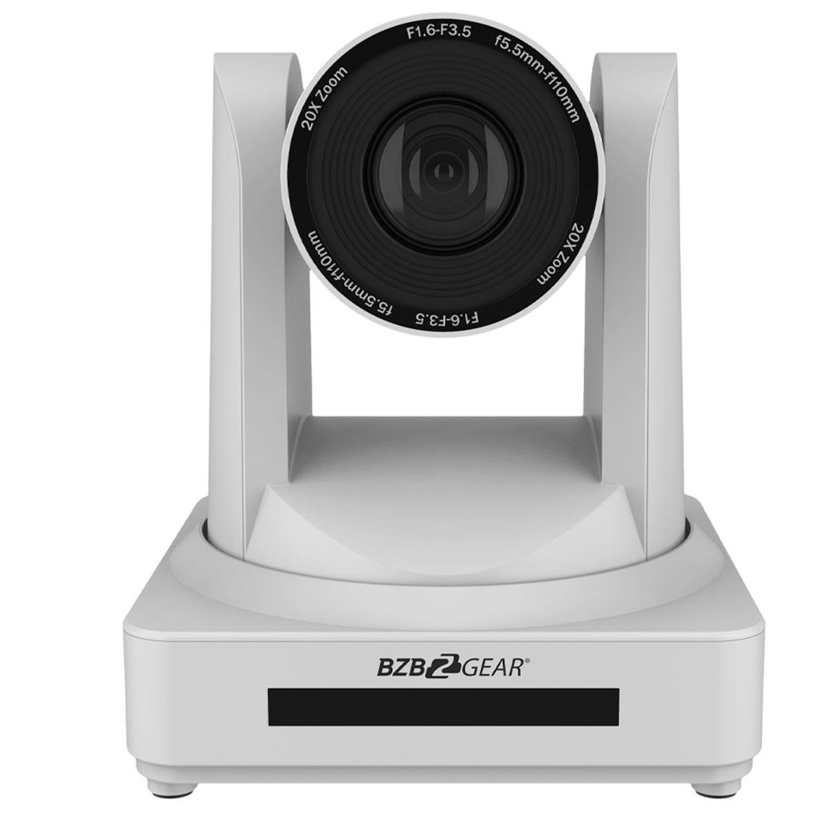 BZB GEAR LVPTZ PTZ 20x Zoom Full HD HDMI/SDI Live Streaming Camera with POE, White